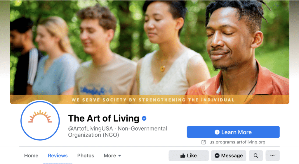 Art of Living USA Facebook Page Cover